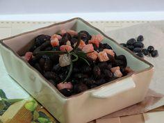 fagioli neri e pancetta