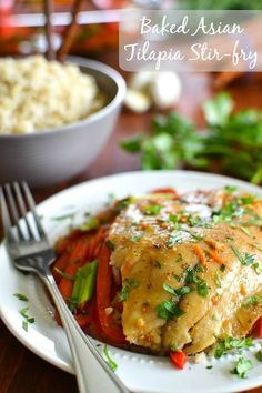 Baked Asian Tilapia