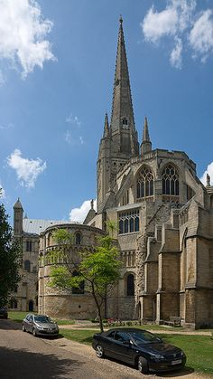 Norwich Cathedral England, in this picture, the final resting place of Edith Cavell