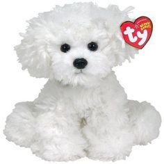Ty Beanie Baby Lollipup - Perro de peluche, color blanco
