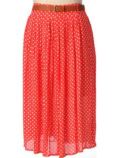 Belted Dots maxi skirt from Kristin Miles