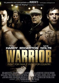 Warrior. Not that good, Nick Nolte gave us couple of gorgeous moments... but this is just another fight story...