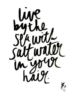 live by the sea | #wordstoliveby