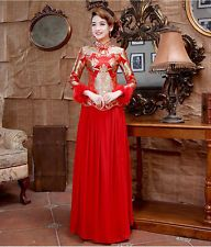 Chinese wedding dress QiPao Kwa cheongsam 38 Sizes available, custom make avail