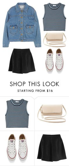 """Outfit Idea by Polyvore Remix"" by polyvore-remix ❤ liked on Polyvore featuring A.L.C., Charlotte Russe, Converse, Glamorous, women's clothing, women, female, woman, misses and juniors"