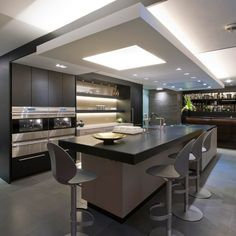 Modern kitchen island design - Kitchen island ideas kitchen island ideas with seating, lighting and stools – Modern kitchen island design Kitchen Room Design, Luxury Kitchen Design, Home Decor Kitchen, Kitchen Living, Interior Design Kitchen, Kitchen Furniture, New Kitchen, Kitchen Ideas, Kitchen Designs