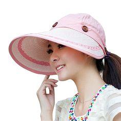 4d4f73da6b8 2016 Wide Brim Anti Sun Hats For Women Motor Caps Panama Fedoras Outdoor  Top Beach Visor Hat Straw Cap Ajustable Bicycle Sunhat