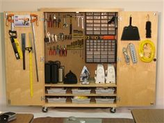 Good starter list for picking up things we may need: Makerspace in a Box (tools & cabinet)