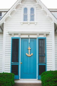 You can enhance the natural beauty of your home with beach house decorating ideas. Coastal Decor like beach art and furniture. Coastal Homes, Coastal Living, Coastal Decor, White Picket Fence, Beach Bungalows, Windows And Doors, Front Doors, House Goals, My Dream Home