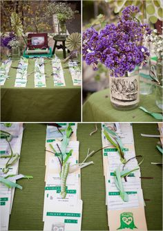 diy library book escort cards