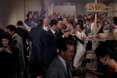 again, the collest party EVER. from Breakfast at tiffany #movies #audrey