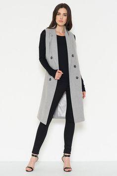 Maxi Trench Coat Vest