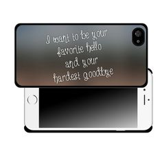 I Want to be Your Favorite Hello and Your Hardest by CustomDecalz