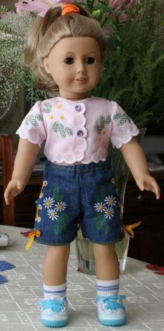 Summer Blouse and Shorts for 18 inch Dolls
