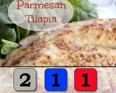 Parmesan Crusted Tilapia (lunch meal prep 21 day fix) 21 Day Fix Menu, 21 Day Fix Snacks, Tilapia Recipes, Fish Recipes, Salmon Recipes, Butter Fish Recipe, Healthy Cooking, Healthy Recipes, Healthy Meals