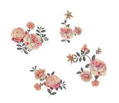Flower Art Images, Leaf Wall Art, Birth Flowers, Vintage Flowers, Flower Prints, Digital, Wallpaper, Blue, Floral Patterns