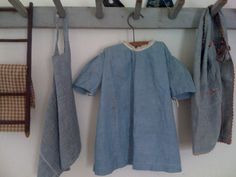 Early Blue Homespun Dress