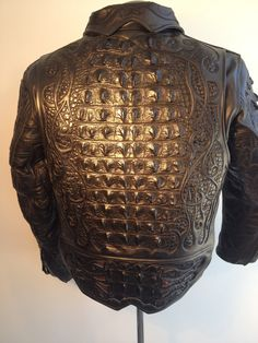 custom biker jacket by Logan Riese