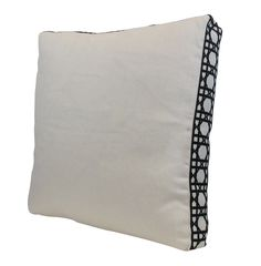 Lacefield for Taylor Burke Home Off White Linen Pillow with Black Fret Tape #southernmade @taylorburkehome