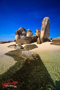 Belitung, Sumatera, Indonesia Lake Toba, Belitung, Unity In Diversity, Gili Island, Rock Formations, I Want To Travel, Borneo, Archipelago, The Places Youll Go
