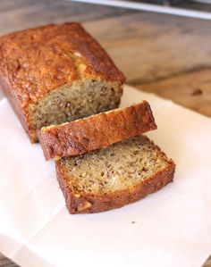 Greek Yogurt Banana Bread Recipe - This didn't work out at all. Baked for an hour, and the center stayed liquid while the ends were almost burnt.It recommends using two mini loaf pans, and I'll try that next time.