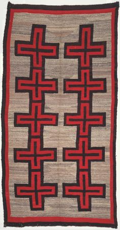 Navajo (Diné) Ganado area, Arizona, United States, Blanket or Rug Native American Rugs, Native American Artifacts, American Indian Art, Southwestern Style Decor, Southwest Art, Navajo Art, Navajo Rugs, Navajo Style, Indian Patterns