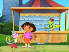 Dora, Boots And Pirate Parrot