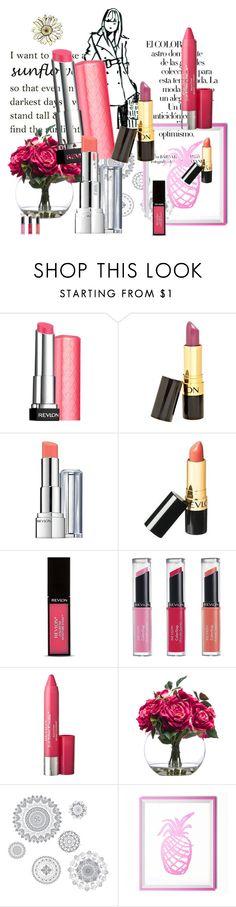 """Revlon Lipstick"" by dudavagsantos ❤ liked on Polyvore featuring beauty, Arco, Revlon, Lux-Art Silks, WallPops and REVLON"