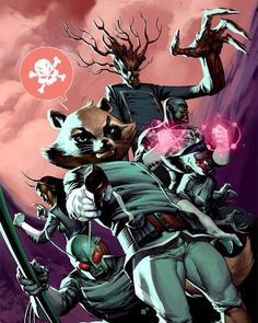 ANNIHILATION: CONQUEST (2007-2008) Not only do the Kree send Peter Quill on a suicide mission but he's only got this bunch of freaks to back him up... Artist: #NicKlein  From: #AnnihilationConquestStarlord  Featuring: #Groot #RocketRaccoon #CaptainUniverse #Deathcry #Mantis #Bug For the beginnings of the team who'll become the Guardians of the Galaxy tap that link on my profile and check out the latest update to THE 'AVENGERS DISASSEMBLED' TO 'SIEGE' READING ORDER by marvelcrossoverguide