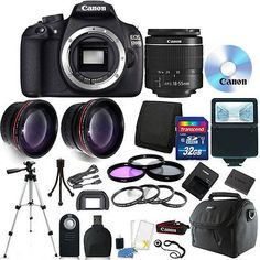 40889 photo-video Canon EOS Rebel 1200D/T5 DSLR  Camera + 18-55mm Lens + 32GB Accessory Kit  BUY IT NOW ONLY  $397.99 Canon EOS Rebel 1200D/T5 DSLR  Camera + 18-55mm Lens + 32GB Accessory Kit...
