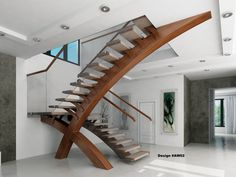 Modern glass stairs, glass balustrade, modern stairs, custom design