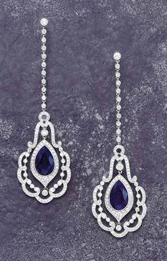 Splendid earrings - Sapphires & Diamonds