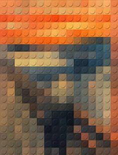 The Scream: LEGO by Geoffroy Amelot