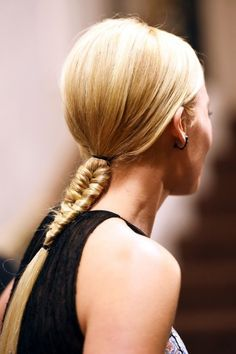 Your definitive guide to the coolest hairstyles to try now. We love this short fishtail braid that is perfect for medium length hair