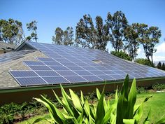 Green hotel solar panels