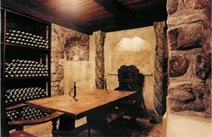 Last winter we started working on our basement, transforming it into a wine cellar. After some bad contractors and then being swindled by Ti. Wine Furniture, Home Wine Cellars, Wine Tasting Room, Whole Lotta Love, Antique Tiles, Wine Collection, Old World Style, Outdoor Projects, Wine Recipes