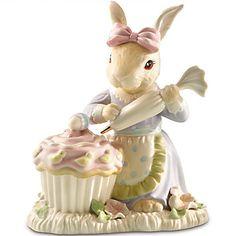 LENOX Figurines: Easter - Bunny's Easter Cupcake Figurine