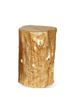 of course, you could always just go get a log and paint it gold...but now you don't have to. Gold Leaf Log Stool by Phillips Collection on Gilt Home