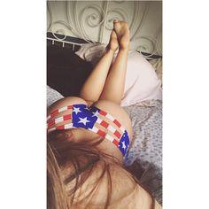 "1,400 curtidas, 40 comentários - @phatcatsama no Instagram: ""💥🎉 #redwhiteandblue #4thofjuly #bikini #panties #booty"""