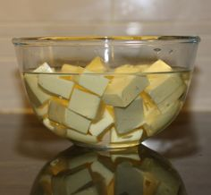 forgot to take the butter out of fridge for baking - simply place cut cubes in warm water (not hot) while you measure out the other ingredients.