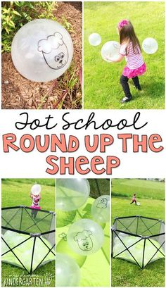 Have some fun and wear the kids out with this round up the sheep gross motor game. Perfect for a farm theme in tot school, preschool, or the kindergarten classroom.
