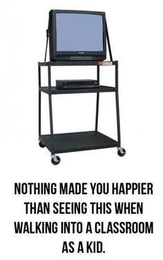 När den här stod i klassrummet så visste man att det skulle bli en bra lektion.