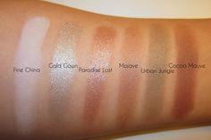 H&M Beauty Eyeshadow Swatches. www.sminkedukken.dk