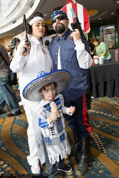 Princess Leia Organa, R2-D2, and Han Solo