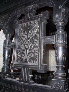 RARE Antique Victorian Ebonized Eastlake Aesthetic Movement Library Hall Table | eBay $2500