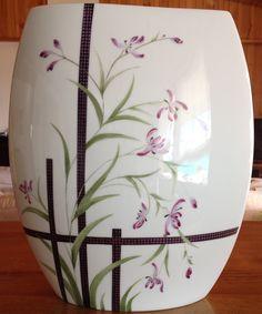 vase peinture sur porcelaine