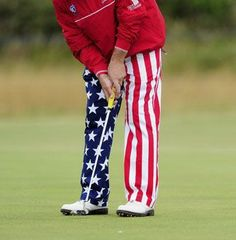 Golfer John Daly sporting the red, white and blue!