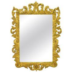 Italian Gilt Plume-Form Hand Carved Mirror   1stdibs.com