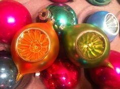 Vintage Glass Ornaments // Antique Christmas Tree Decorations // Tear drop Ornaments. $10.00, via Etsy.