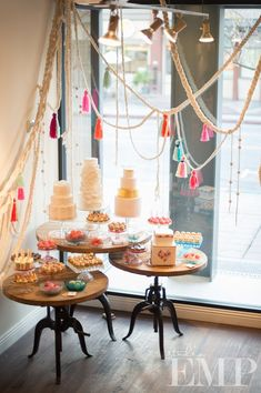 Displays by Jeni from Found Vintage Rentals and Larissa from Inviting Occasions.  Desserts by Sweet and Saucy Shop, A Wish and a Whisk, and Sensational Sweets.  Photography done by Studio EMP.